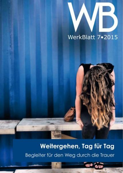"""Cover: Werkblatt """"Heft für Trauernde"""""""