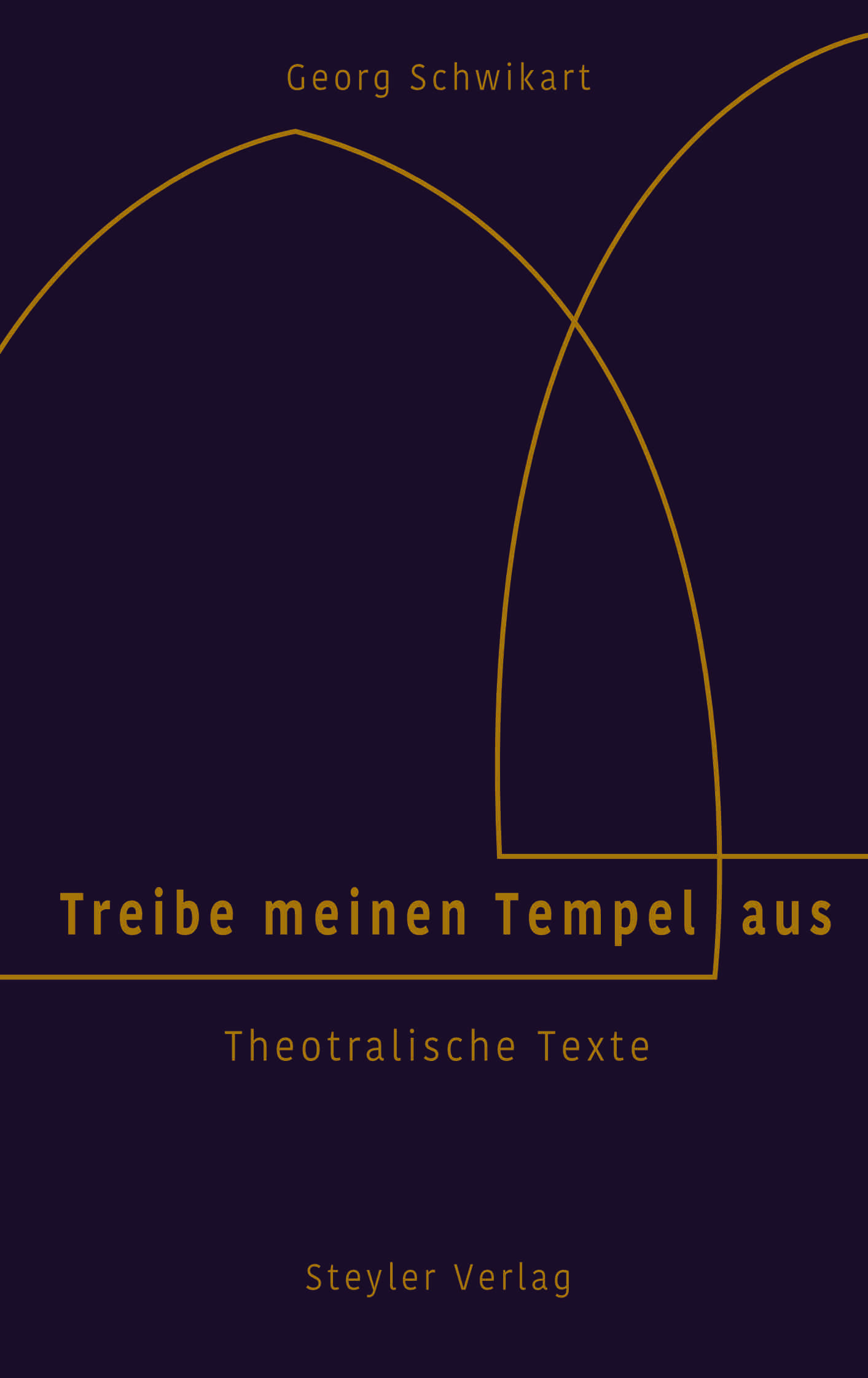 Violettes Buchcover mit goldenem Titel