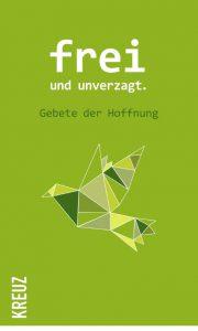 Grüner Buchumschlag mit Origami-Vogel