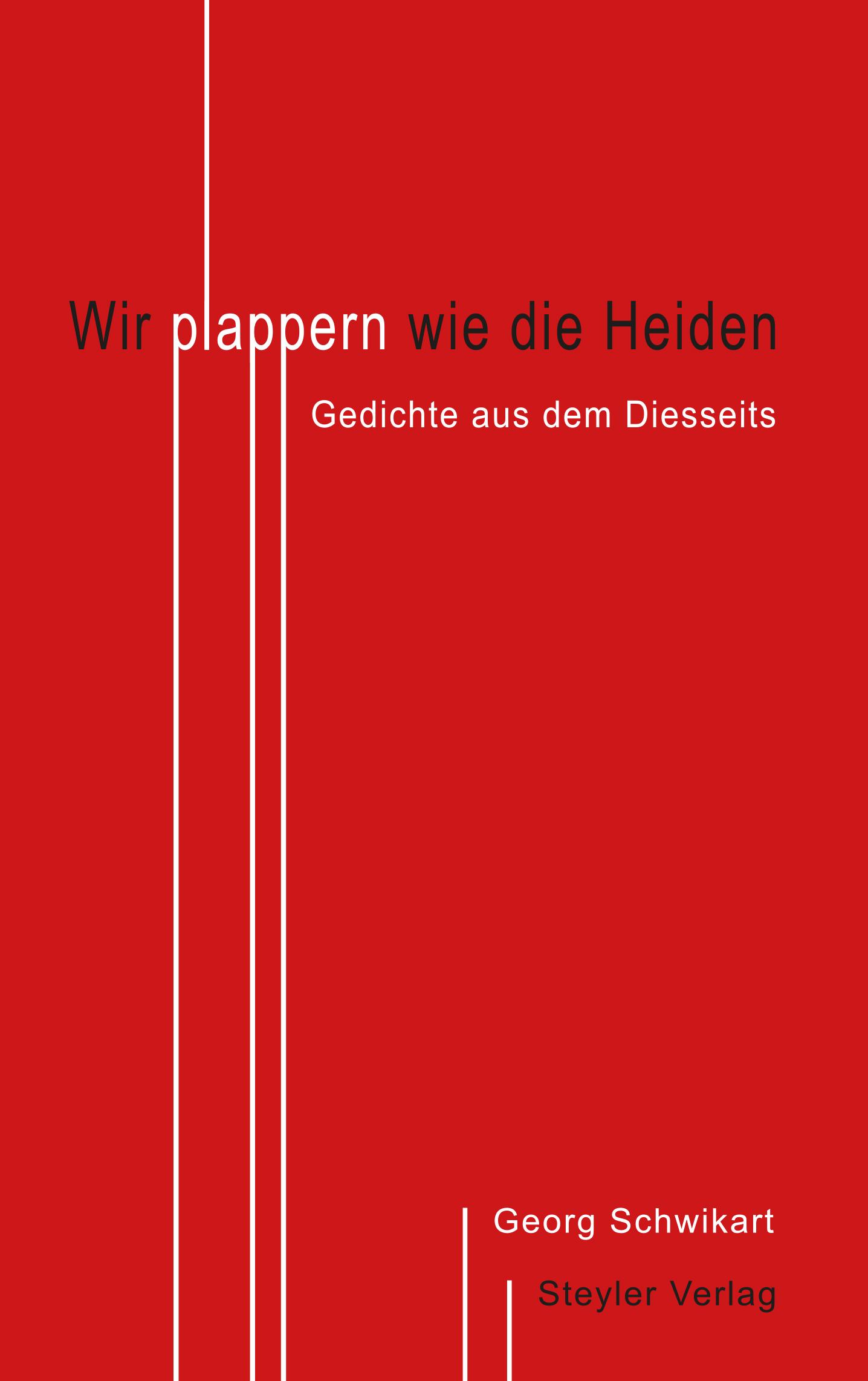 Rotes Cover, Texte in schwarz und weiß